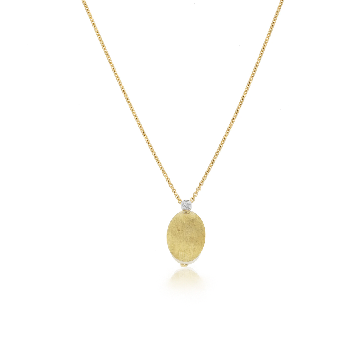 Siviglia Yellow Gold Diamond Station Bead Pendant