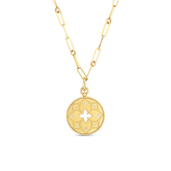 Open Venetian Princess Flower Medallion Pendant