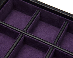 BLAKE CUFFLINK/TIE BAR BOX - BLACK & PURPLE