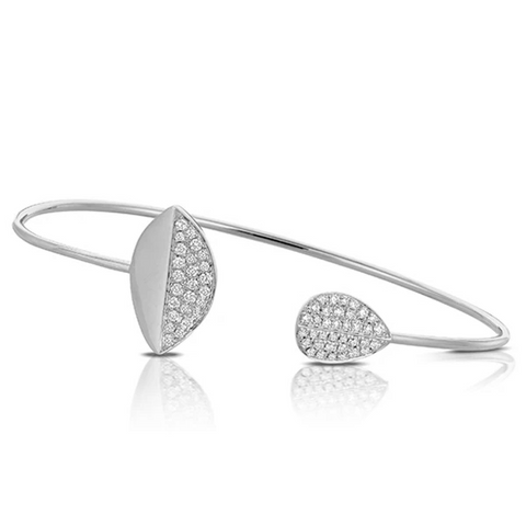Marquise & Tear Drop Pave Bangle with Diamonds