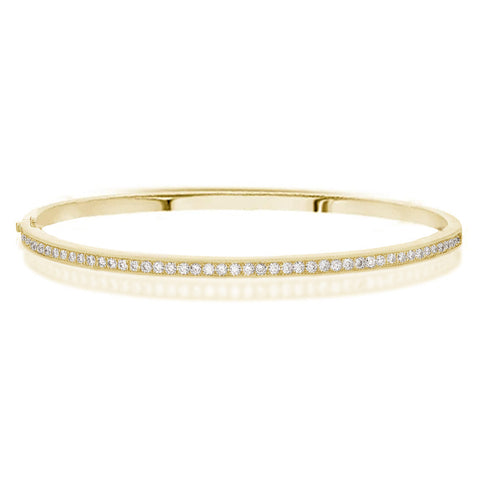 Pave Diamond Line Bangle