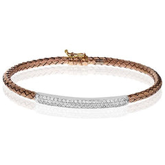 Diamond Weave Pave Bangle