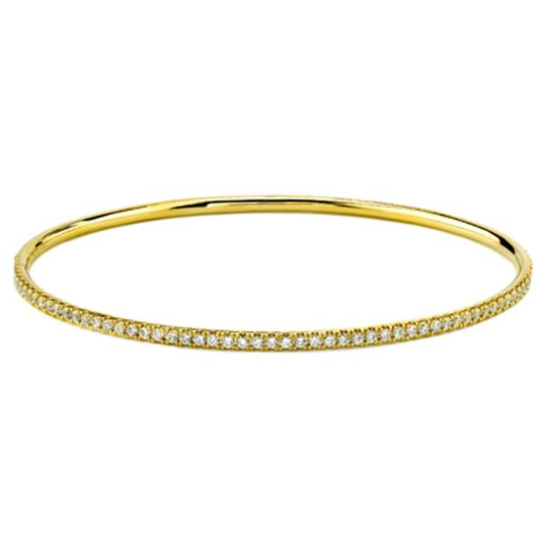 Yellow Diamond Classic Diamond Pave Bangle