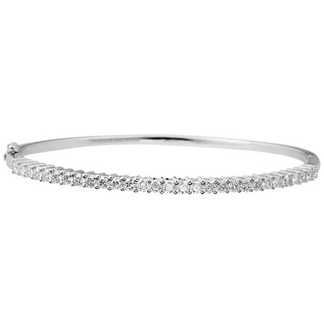 Classic Medium Prong Set Diamond Bangle 2.08ctw