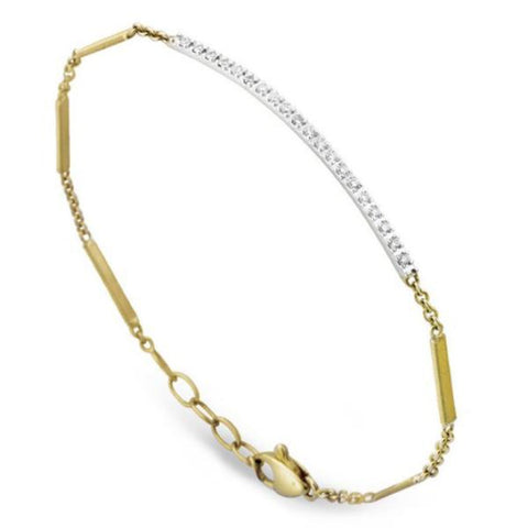 Goa Gold Pave Diamond Bar Bracelet