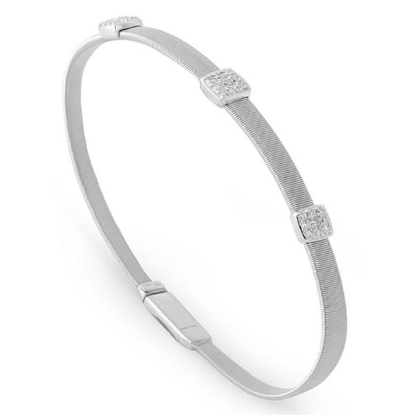 Masai Three Station Diamond Bracelet in White Gold