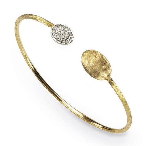 Siviglia Yellow & White Gold Open Pave Bracelet