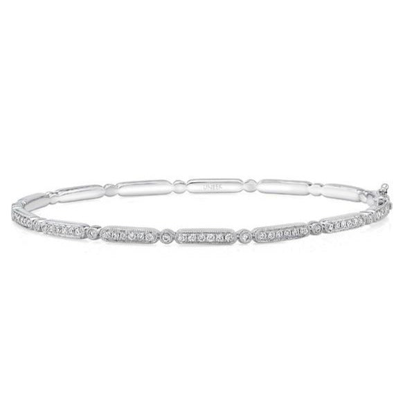 Rectangle & Round Alternating Diamond Bangle