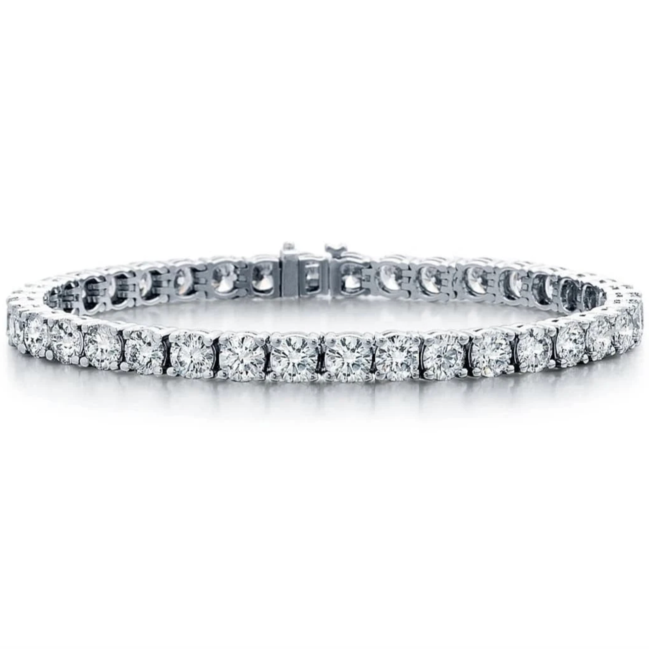 Classic Large Prong Set 6.36ctw Diamond Tennis Bracelet
