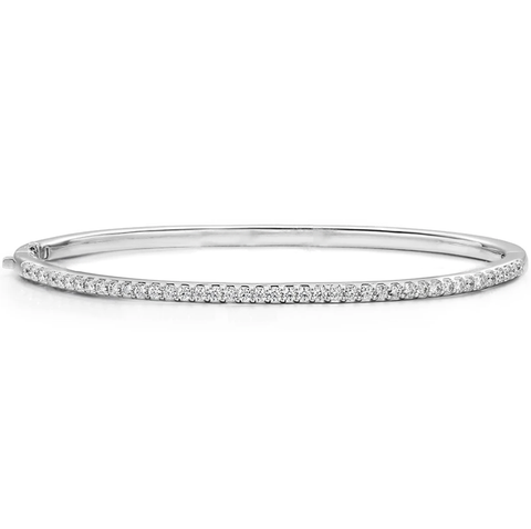 Classic Thin Prong Set Diamond Bangle .65ctw