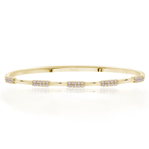 Rectangle Pave Station Diamond Bangle