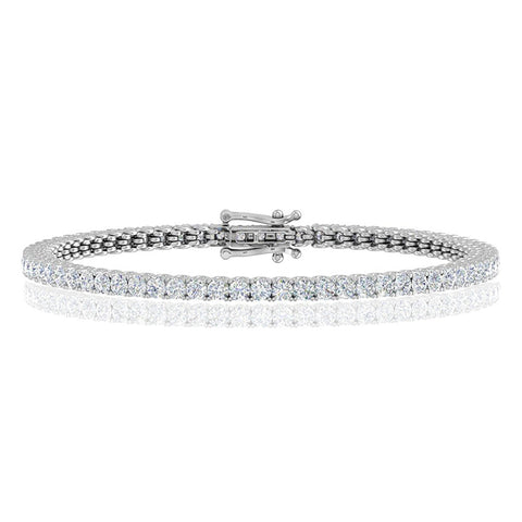 Classic Prong Set 1.98ctw Diamond Tennis Bracelet