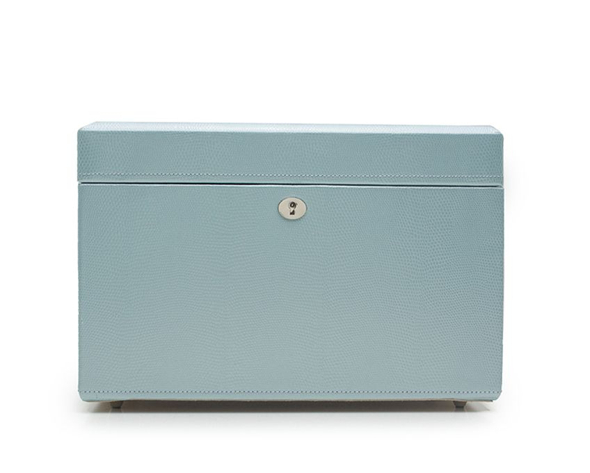 LONDON MEDIUM JEWELRY BOX - ICE BLUE