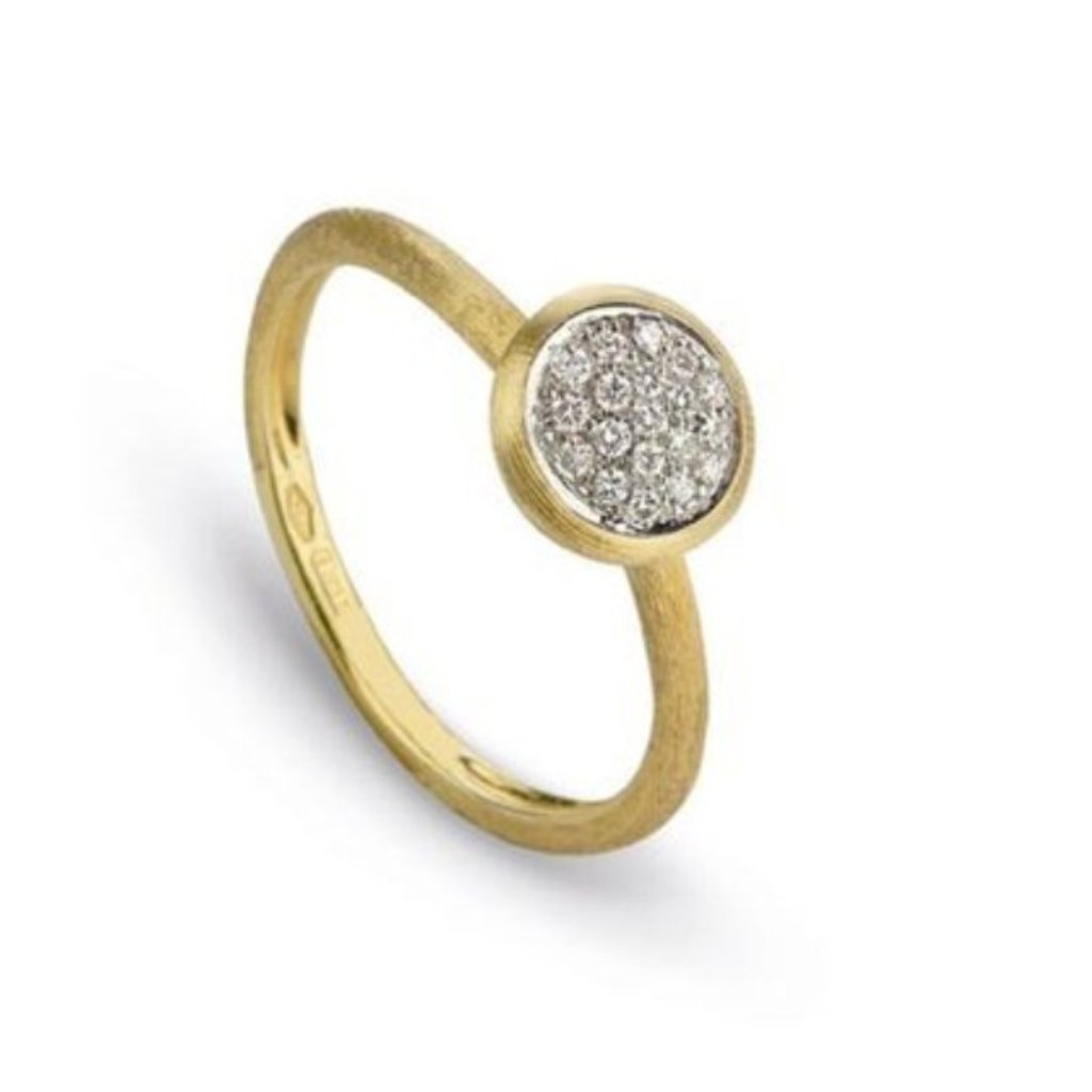 Delicati Yellow Gold with Diamond Small Stackable Ring