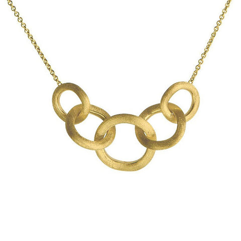 Jaipur Link Yellow Gold Link Graduated Necklace