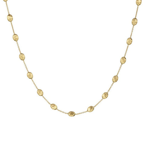 Siviglia Yellow Gold Medium Bead Necklace