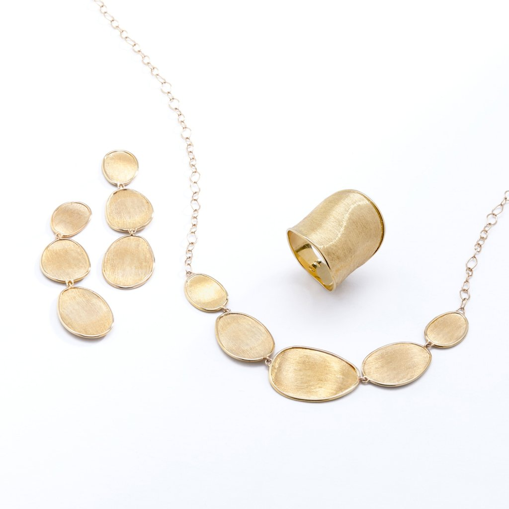 Lunaria Yellow Gold Graduated Necklace