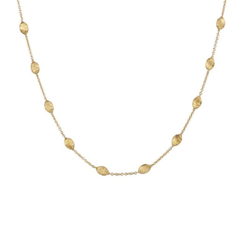 Siviglia Yellow Gold Small Bead Necklace