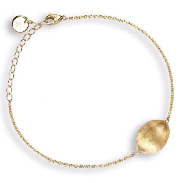 Delicati Yellow Gold Yellow Gold Oval Bead Bracelet