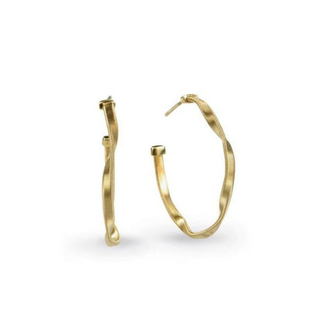Marrakech Yellow Gold Small Hoop Earrings