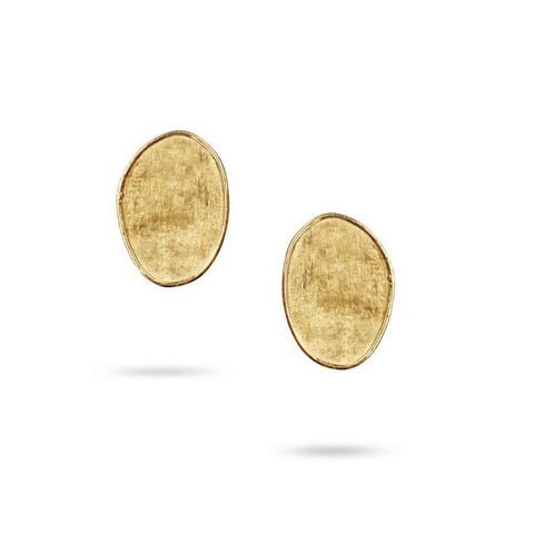 Lunaria Yellow Gold Small Petal Stud Earrings
