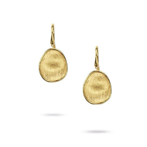 Lunaria Yellow Gold Petite French Wire Drop Earrings