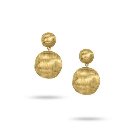 Africa Yellow Gold Small Drop Earrings
