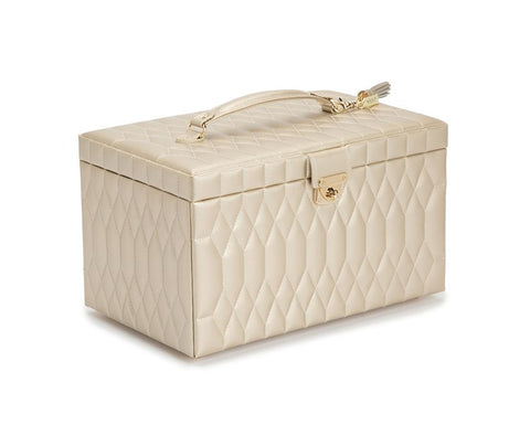 CAROLINE LARGE JEWELRY CASE - CHAMPAGNE