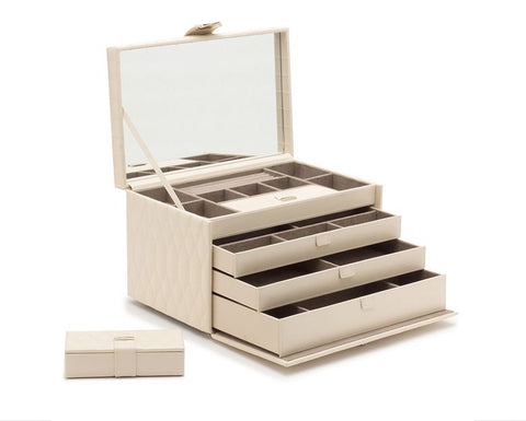 CAROLINE LARGE JEWELRY CASE - IVORY