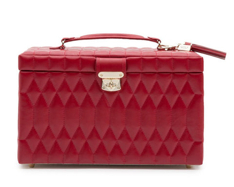 CAROLINE LARGE JEWELRY CASE - RED