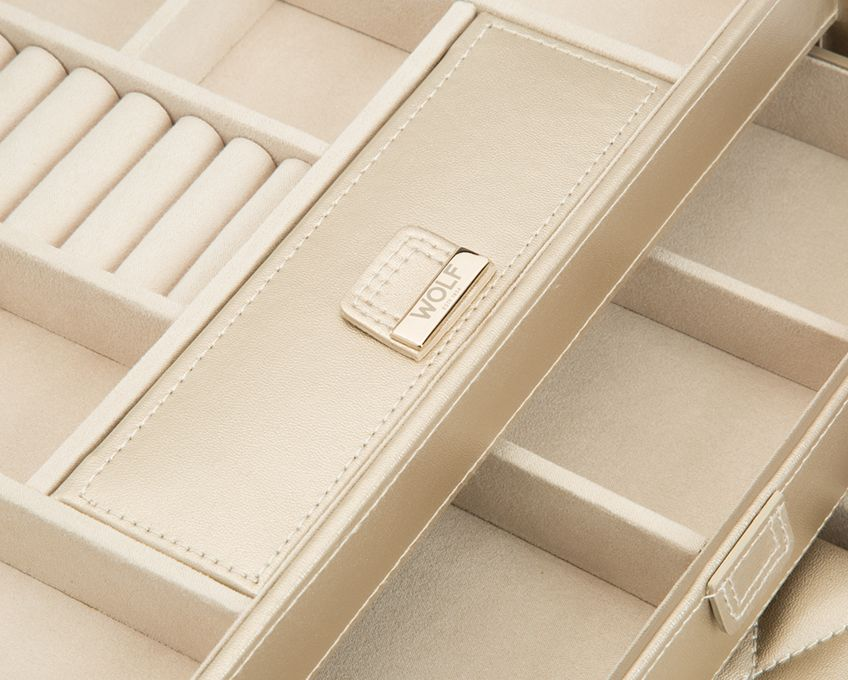 CAROLINE MEDIUM JEWELRY CASE - CHAMPAGNE