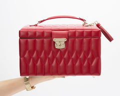CAROLINE MEDIUM JEWELRY CASE - RED