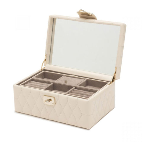 CAROLINE SMALL JEWELRY CASE - IVORY