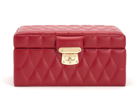CAROLINE SMALL JEWELRY CASE - RED