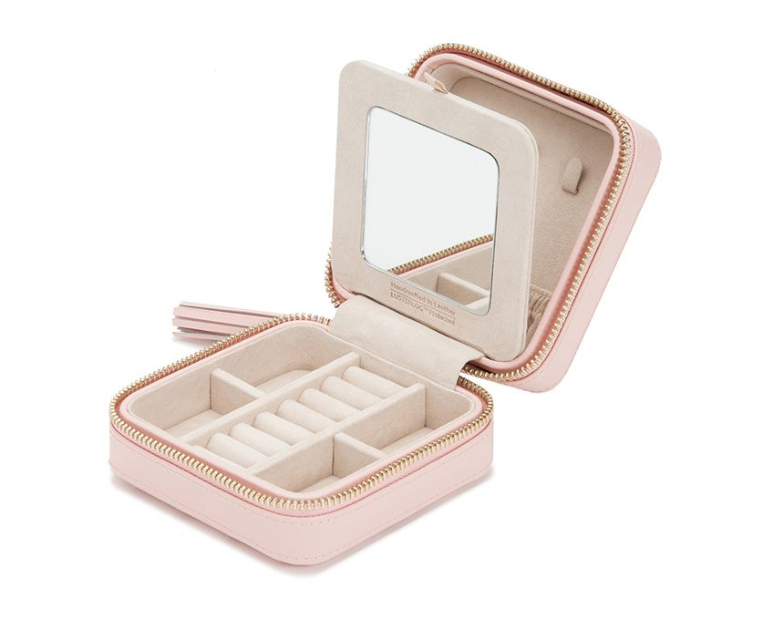 CAROLINE ZIP TRAVEL CASE - PINK
