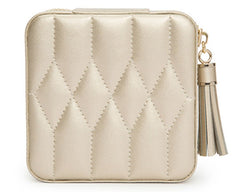 CAROLINE ZIP TRAVEL CASE - CHAMPAGNE