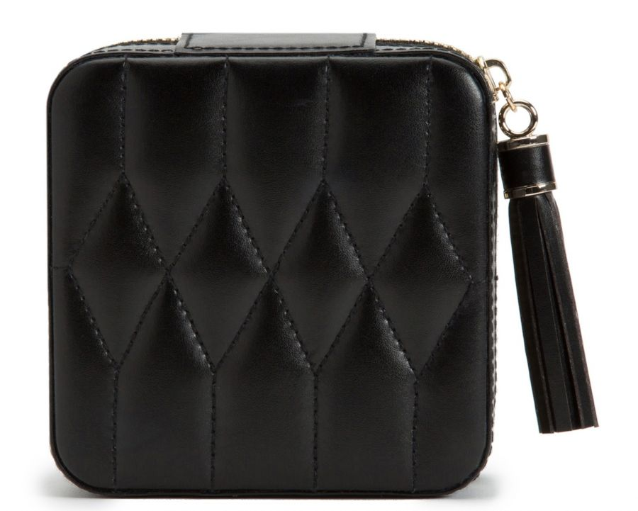 CAROLINE ZIP TRAVEL CASE - BLACK