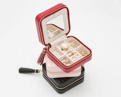 CAROLINE ZIP TRAVEL CASE - IVORY
