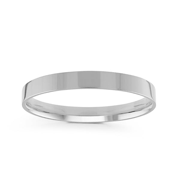 3mm Classic Flat Comfort Fit Wedding Band