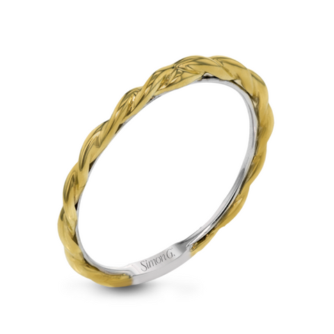Classic Romance Yellow and White Twisted Anniversary Band