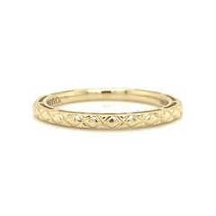 Yellow Gold Quilted Polished Band