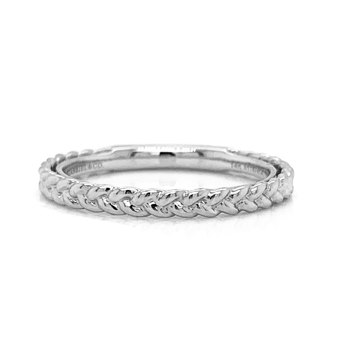 Double Braided Plain Stack Band