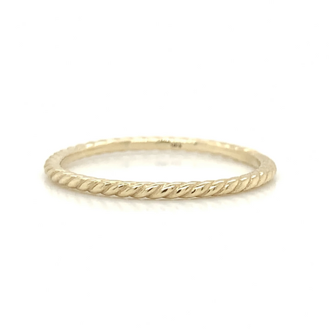 Yellow Ultra Petite Eternity Twist Polish Band