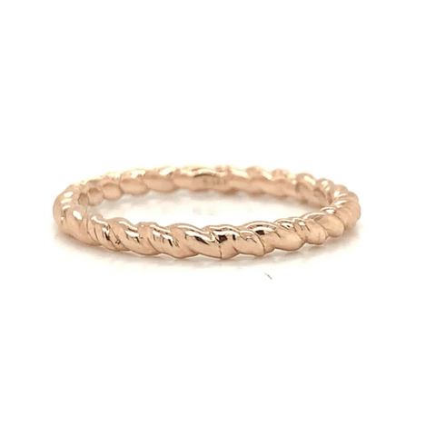 Rose Gold Petite Eternity Twist Polish Band