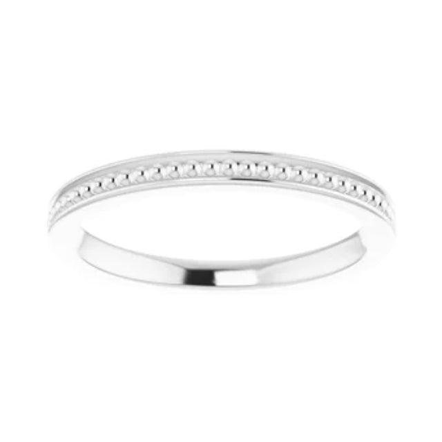1.75mm Beaded Stackable Band