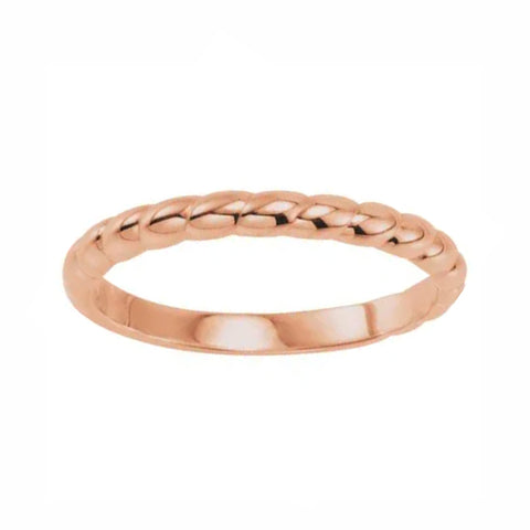 2.5mm Subtle Twist Polish Stackable Band
