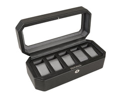WINDSOR 5 PIECE WATCH BOX - BLACK