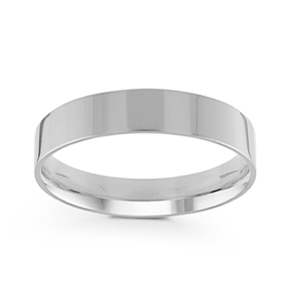 5mm Classic Flat Comfort Fit Wedding Band