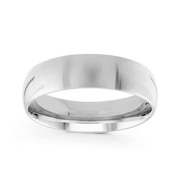 6mm Classic Dome Comfort Fit Wedding Band