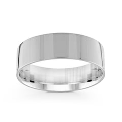 7mm Classic Flat Comfort Fit Wedding Band